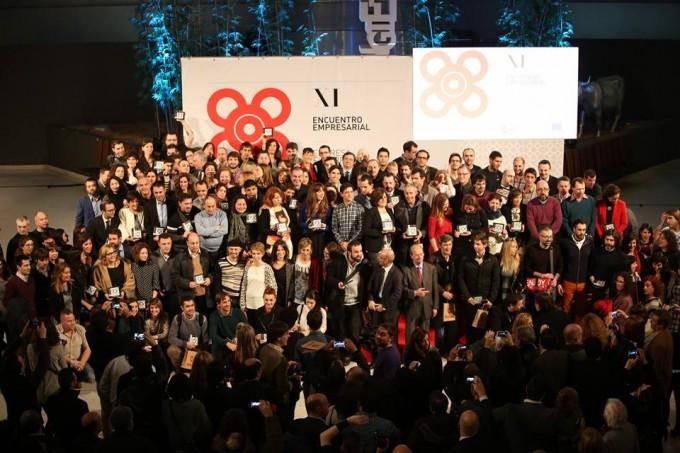 Todos los galardonados con la Baldosa en la gala de 'Bilbao Emprende'