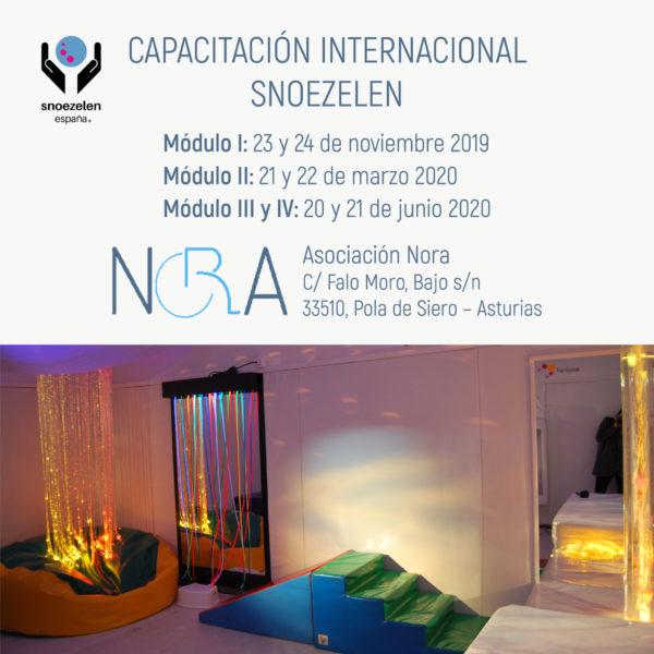 Capacitación Profesional Snoezelen Internacional Homologado Módulo I: 23 y 24 de noviembre 2019 Módulo II: 21 y 22 de marzo 2020 Módulo III y IV: 20 y 21 de junio 2020